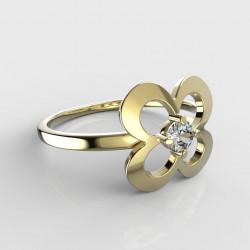 Dětský zlatý prstýnek BeKid - 829 (žluté zlato Au585)