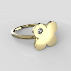 Dětský zlatý prstýnek BeKid - 828 (žluté zlato Au585)