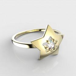 Dětský zlatý prsten BeKid hvězdička - 824 (žluté zlato Au585