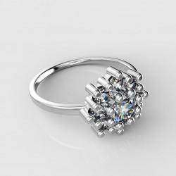 Dětský zlatý prsten BeKid květina - 319 (bílé zlato Au585