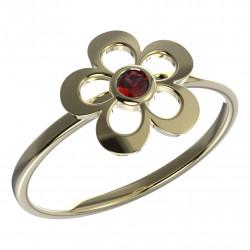 Dětský zlatý prsten BeKid květina - 833 (žluté zlato Au585
