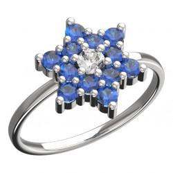 Dětský zlatý prsten BeKid hvězdička - 090 (bílé zlato Au585