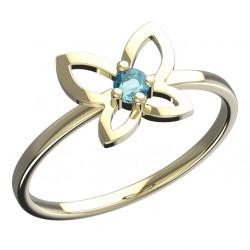 Dětský zlatý prsten BeKid motýlek - 844 (žluté zlato Au585
