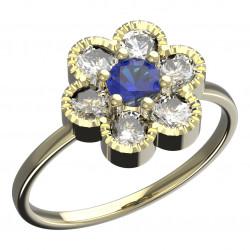 Dětský zlatý prsten BeKid kytička - 140 (žluté zlato Au585
