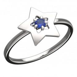 Dětský zlatý prsten BeKid hvězdička - 824 (bílé zlato Au585