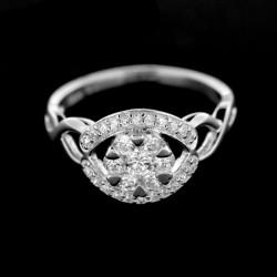 Stříbrný prsten R410