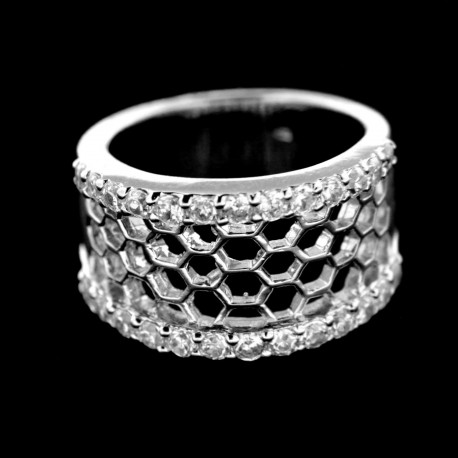 Stříbrný prsten R413