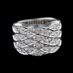 Stříbrný prsten R241
