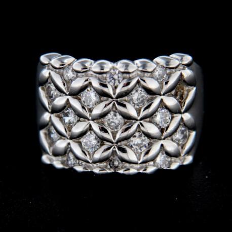 Stříbrný prsten R244