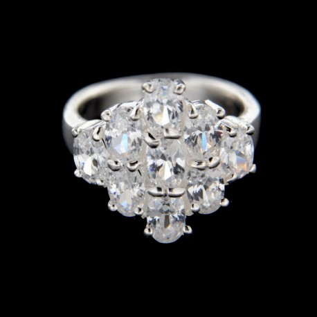 Stříbrný prsten R219