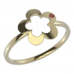 Dětský zlatý prsten BeKid květina - 832 (žluté zlato Au585