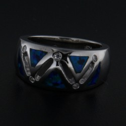 Stříbrný prsten R1968