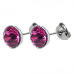 Naušnice ESSW12 rose s krystaly Swarovski Elements