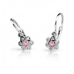 Dětské naušnice Cutie C2149-B Pink