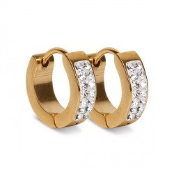 Naušnice ESSW06 gold cz krystaly Swarovski Elements