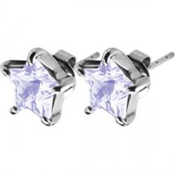 Naušnice ESSW16 lavender s krystaly Swarovski Elements
