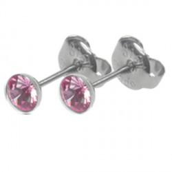 Naušnice ESSW10 rose s krystaly Swarovski Elements