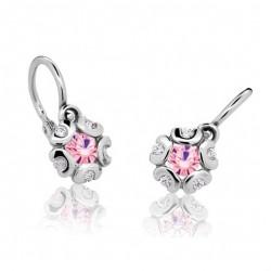 Dětské naušnice Cutie C2178-B Pink