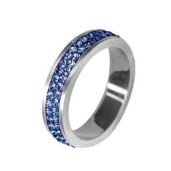 Prsten RSSW02 sapphire s krystaly Swarovski Elements