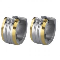 Naušnice Tribal ESS386 steel - gold