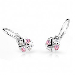 Dětské naušnice Cutie C2153-B Pink