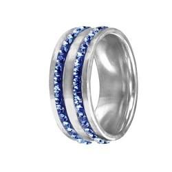 Prsten RSSW08 sapphire s krystaly Swarovski Elements