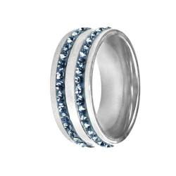 Prsten RSSW08 light sapphire s krystaly Swarovski Elements