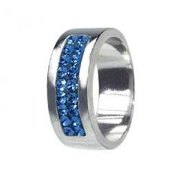 Prsten RSSW01 sapphire s krystaly Swarovski Elements