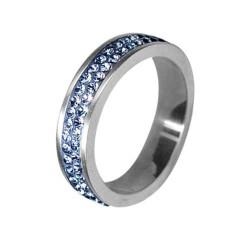 Prsten RSSW02 light sapphire s krystaly Swarovski Elements
