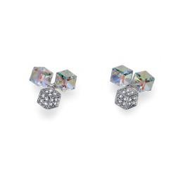 Náušnice Oliver Weber Quad - 22629 (crystal AB)