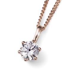 Stříbrný přívěsek Oliver Weber Brilliance Medium - 61125 - Ag925 (crystal / rosegold)