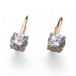 Stříbrné náušnice Oliver Weber Comfort - 62071 - Ag925 (crystal / gold plated)