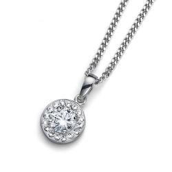 Stříbrný přívěsek Oliver Weber Clear - 61112 - Ag925 (crystal)