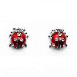 Náušnice Oliver Weber Ladybug mini - 22186 (crystal)