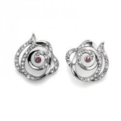 Náušnice Oliver Weber Rose - 9934 (crystal)
