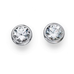 Stříbrné náušnice Oliver Weber Basic - 62072 - Ag925 (crystal)
