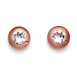 Náušnice Oliver Weber Diamond - 22066 (rosegold crystal)
