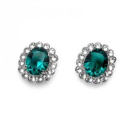 Náušnice Oliver Weber Genuine - 22031 (emerald)