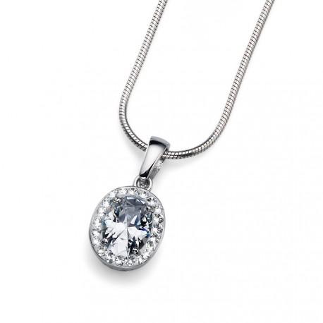 Stříbrný přívěsek Oliver Weber Pure - 61109 - Ag925 (crystal)