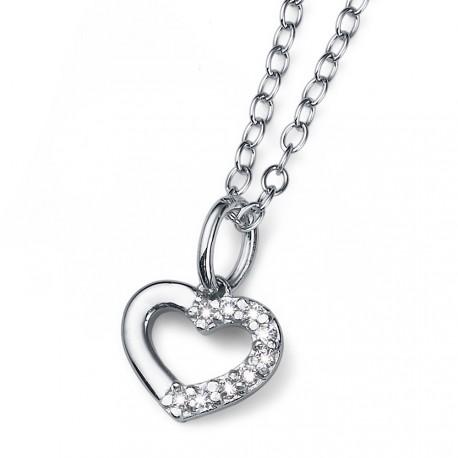 Stříbrný přívěsek Oliver Weber Loveheart - 61129 - Ag925 (crystal)