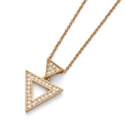 Přívěsek Oliver Weber Tri - 11668 (gold crystal)
