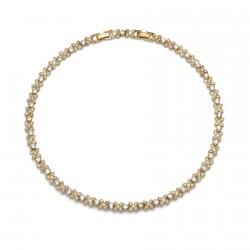 Náhrdelník Fleur - 11030 (gold crystal)
