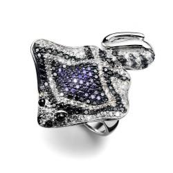 Stříbrný prsten Oliver Weber Swimming Ray - 63901