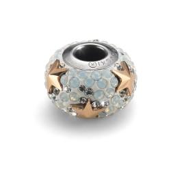 Korálek na náramek Oliver Weber Stella Steel - 56012 (white opal gold)