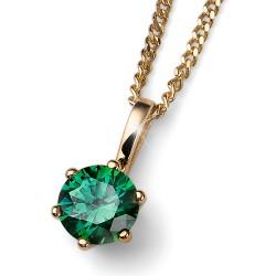 Stříbrný přívěsek Oliver Weber Brilliance Medium - 61125 - Ag925 (green / gold plated)