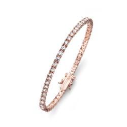 Stříbrný náramek Oliver Weber Classic - 63520 - Ag925 (crystal / rosegold)