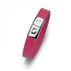 Ocelový náramek Oliver Weber Option short - 67018 (pink)