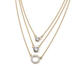 Stříbrný náhrdelník Oliver Weber Signs - 61115 (gold crystal)