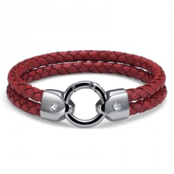 Náramek Oliver Weber Braid - 67017 (red)