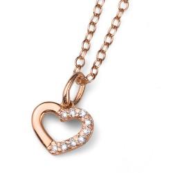 Stříbrný přívěsek Oliver Weber Loveheart - 61129 - Ag925 (crystal / rosegold)